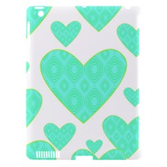 Green Heart Pattern Apple Ipad 3/4 Hardshell Case (compatible With Smart Cover)