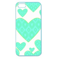 Green Heart Pattern Apple Seamless Iphone 5 Case (color)