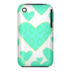 Green Heart Pattern Iphone 3s/3gs