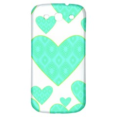 Green Heart Pattern Samsung Galaxy S3 S Iii Classic Hardshell Back Case