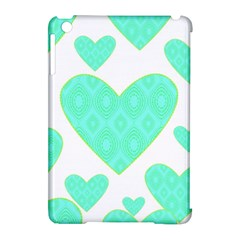 Green Heart Pattern Apple Ipad Mini Hardshell Case (compatible With Smart Cover)
