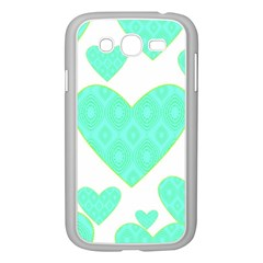 Green Heart Pattern Samsung Galaxy Grand Duos I9082 Case (white)
