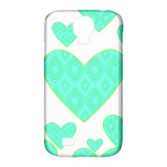 Green Heart Pattern Samsung Galaxy S4 Classic Hardshell Case (pc+silicone)