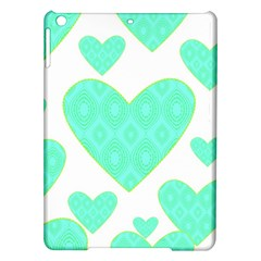 Green Heart Pattern Ipad Air Hardshell Cases