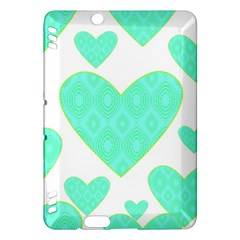 Green Heart Pattern Kindle Fire Hdx Hardshell Case