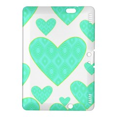 Green Heart Pattern Kindle Fire Hdx 8 9  Hardshell Case