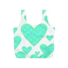 Green Heart Pattern Full Print Recycle Bags (s)