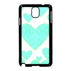 Green Heart Pattern Samsung Galaxy Note 3 Neo Hardshell Case (black)