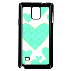 Green Heart Pattern Samsung Galaxy Note 4 Case (black)