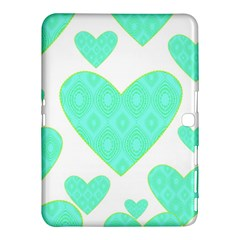 Green Heart Pattern Samsung Galaxy Tab 4 (10 1 ) Hardshell Case