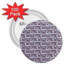 Welcome Letters Pattern 2 25  Buttons (100 Pack)
