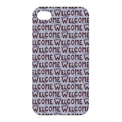 Welcome Letters Pattern Apple Iphone 4/4s Premium Hardshell Case