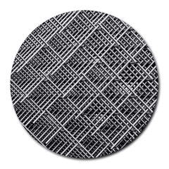 Grid Wire Mesh Stainless Rods Rods Raster Round Mousepads