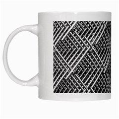 Grid Wire Mesh Stainless Rods Rods Raster White Mugs