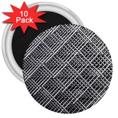 Grid Wire Mesh Stainless Rods Rods Raster 3  Magnets (10 pack)