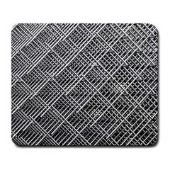 Grid Wire Mesh Stainless Rods Rods Raster Large Mousepads