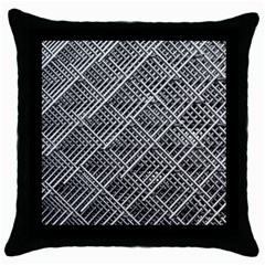 Grid Wire Mesh Stainless Rods Rods Raster Throw Pillow Case (Black)