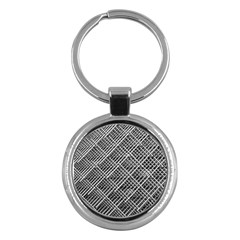 Grid Wire Mesh Stainless Rods Rods Raster Key Chains (round)