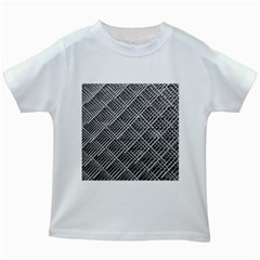 Grid Wire Mesh Stainless Rods Rods Raster Kids White T Shirts