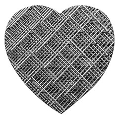 Grid Wire Mesh Stainless Rods Rods Raster Jigsaw Puzzle (Heart)