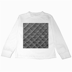 Grid Wire Mesh Stainless Rods Rods Raster Kids Long Sleeve T Shirts