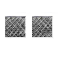 Grid Wire Mesh Stainless Rods Rods Raster Cufflinks (square)