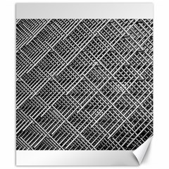 Grid Wire Mesh Stainless Rods Rods Raster Canvas 8  X 10