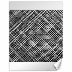 Grid Wire Mesh Stainless Rods Rods Raster Canvas 12  X 16