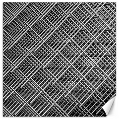 Grid Wire Mesh Stainless Rods Rods Raster Canvas 16  X 16