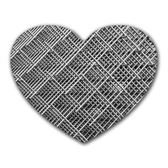 Grid Wire Mesh Stainless Rods Rods Raster Heart Mousepads