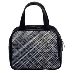 Grid Wire Mesh Stainless Rods Rods Raster Classic Handbags (2 Sides)