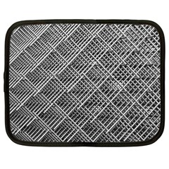 Grid Wire Mesh Stainless Rods Rods Raster Netbook Case (xl)