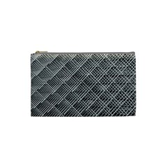 Grid Wire Mesh Stainless Rods Rods Raster Cosmetic Bag (small)