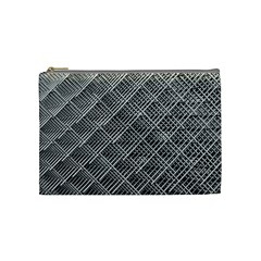 Grid Wire Mesh Stainless Rods Rods Raster Cosmetic Bag (medium)