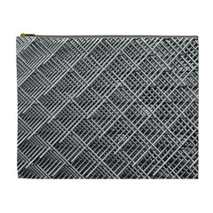 Grid Wire Mesh Stainless Rods Rods Raster Cosmetic Bag (xl)