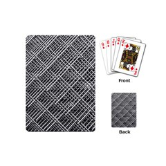 Grid Wire Mesh Stainless Rods Rods Raster Playing Cards (Mini)