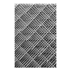 Grid Wire Mesh Stainless Rods Rods Raster Shower Curtain 48  X 72  (small)