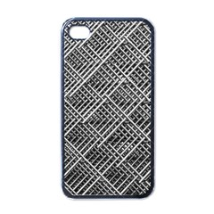 Grid Wire Mesh Stainless Rods Rods Raster Apple Iphone 4 Case (black)