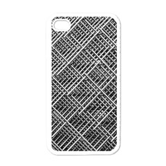 Grid Wire Mesh Stainless Rods Rods Raster Apple Iphone 4 Case (white)