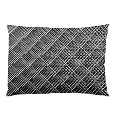 Grid Wire Mesh Stainless Rods Rods Raster Pillow Case (two Sides)