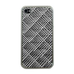 Grid Wire Mesh Stainless Rods Rods Raster Apple Iphone 4 Case (clear)
