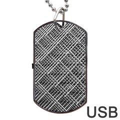 Grid Wire Mesh Stainless Rods Rods Raster Dog Tag Usb Flash (one Side)