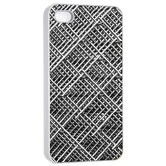 Grid Wire Mesh Stainless Rods Rods Raster Apple Iphone 4/4s Seamless Case (white)