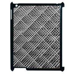 Grid Wire Mesh Stainless Rods Rods Raster Apple Ipad 2 Case (black)