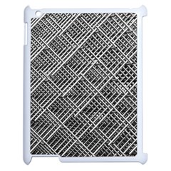 Grid Wire Mesh Stainless Rods Rods Raster Apple Ipad 2 Case (white)