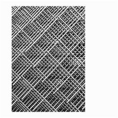 Grid Wire Mesh Stainless Rods Rods Raster Small Garden Flag (two Sides)
