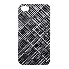 Grid Wire Mesh Stainless Rods Rods Raster Apple Iphone 4/4s Premium Hardshell Case