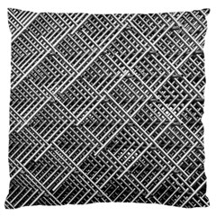 Grid Wire Mesh Stainless Rods Rods Raster Large Cushion Case (two Sides)