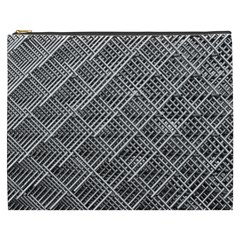 Grid Wire Mesh Stainless Rods Rods Raster Cosmetic Bag (xxxl)