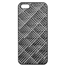 Grid Wire Mesh Stainless Rods Rods Raster Apple Iphone 5 Seamless Case (black)